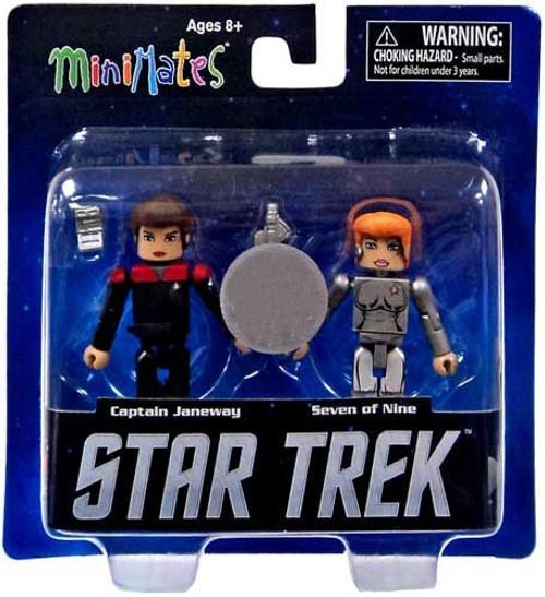 Voyager Minimates Star Trek Legacy Series 1 Captain Janeway & Seven of Nine Exclusive Minifigure 2-Pack