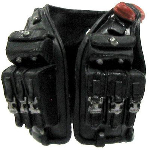 GI Joe Loose Combat Vest with Ammo Pockets Action Figure Accessory [Black Loose]