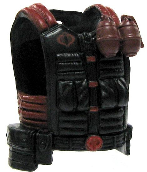 GI Joe Loose Cobra Flack Jacket Action Figure Accessory [Black & Red Loose]