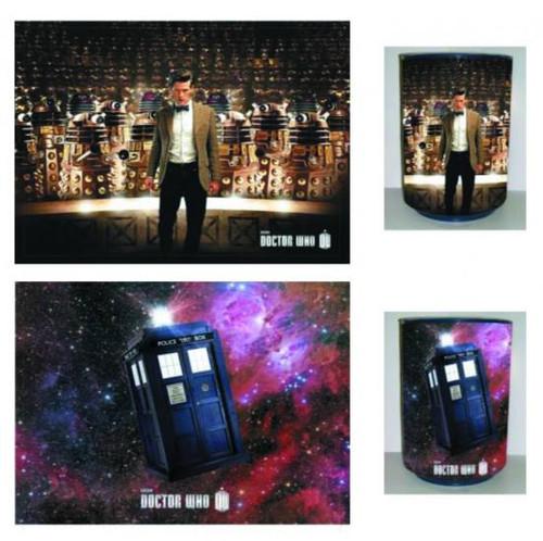 Doctor Who Reversible Tardis & Dalek Trash Bin