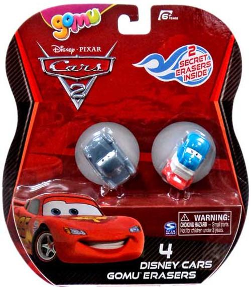 Disney Cars Cars 2 Gomu Finn McMissile & Raoul Caroule Gomu Erasers 4-Pack