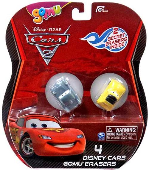 Disney Cars Cars 2 Gomu Finn McMissile & Luigi Gomu Erasers 4-Pack