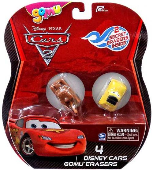 Disney Cars Cars 2 Gomu Mater & Luigi Gomu Erasers 4-Pack