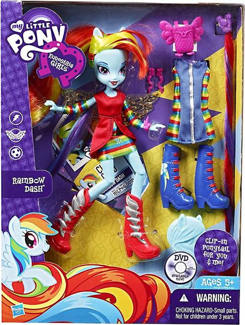 My Little Pony Equestria Girls Rainbow Rocks Deluxe Rainbow Dash 9-Inch Doll [Clip-m Ponytail]