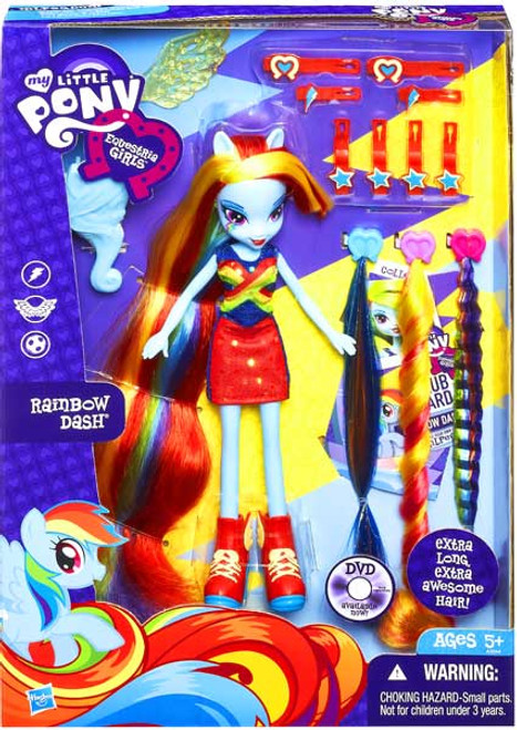 My Little Pony Equestria Girls Radical Hair Rainbow Dash 9-Inch Doll