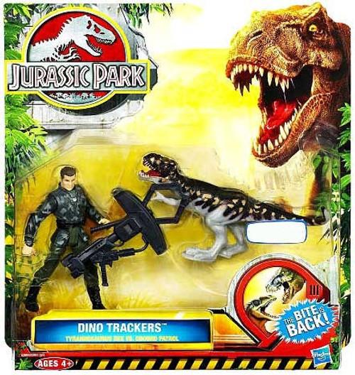 Jurassic Park Dino Trackers Tyrannosaurus Rex vs. Ground Patrol Exclusive Action Figure Set