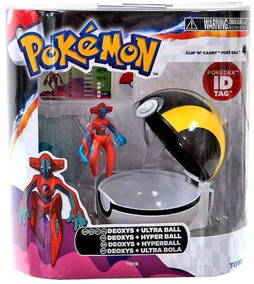 Pokemon Clip n Carry Pokeball Deoxys & Ultra Ball Figure Set