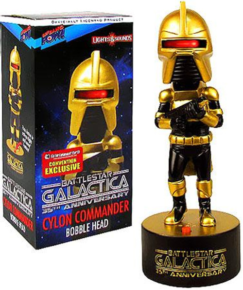 Battlestar Galactica 35th Anniversary Cylon Commander Bobble Head [Gold]