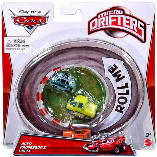 Disney Cars Micro Drifters Acer, Professor Z, Grem Mini Cars