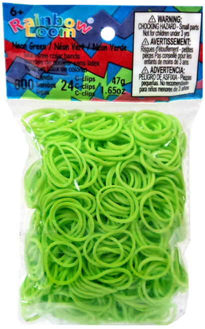 Rainbow Loom Neon Green Rubber Bands Refill Pack RL11 [600 ct]