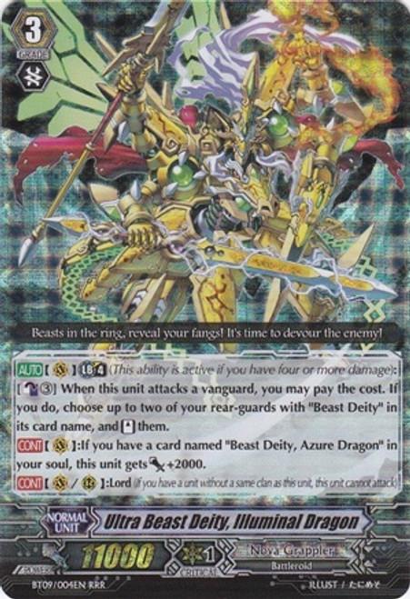 Cardfight Vanguard Clash of the Knights & Dragons RRR Rare Ultra Beast Deity, Illuminal Dragon BT09/004