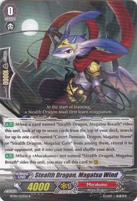 Cardfight Vanguard Clash of the Knights & Dragons Rare Stealth Dragon, Magatsu Wind BT09/023