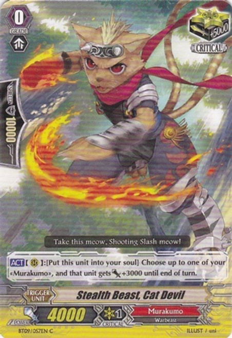 Cardfight Vanguard Clash of the Knights & Dragons Common Stealth Beast, Cat Devil BT09/057