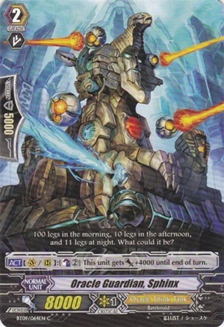 Cardfight Vanguard Clash of the Knights & Dragons Common Oracle Guardian, Sphinx BT09/064