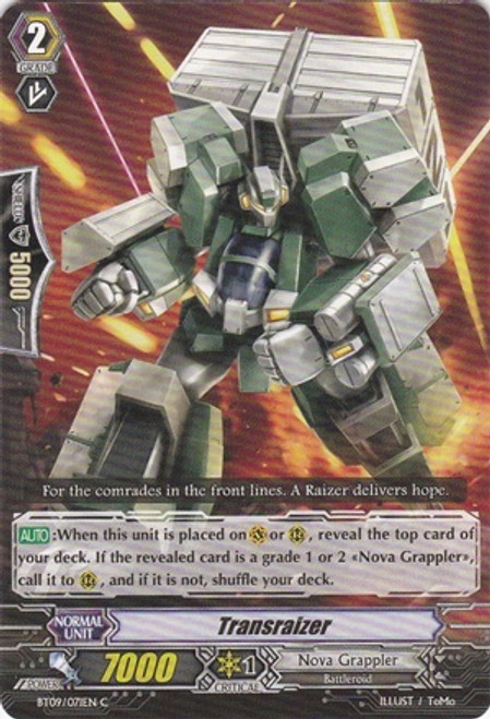 Cardfight Vanguard Clash of the Knights & Dragons Common Transraizer BT09/071