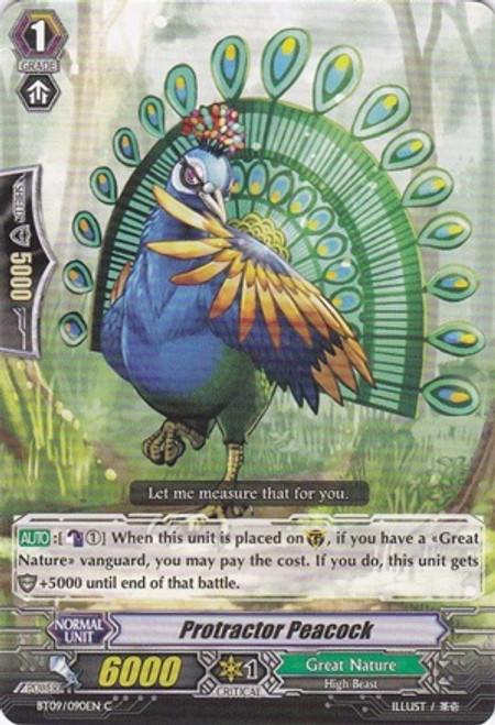 Cardfight Vanguard Clash of the Knights & Dragons Common Protractor Peacock BT09/090