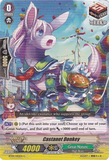 Cardfight Vanguard Clash of the Knights & Dragons Common Castanet Donkey BT09/092