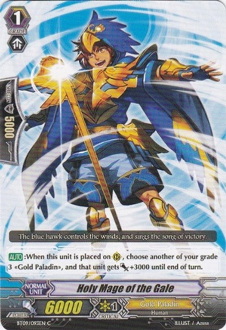 Cardfight Vanguard Clash of the Knights & Dragons Common Holy Mage of the Gale BT09/093