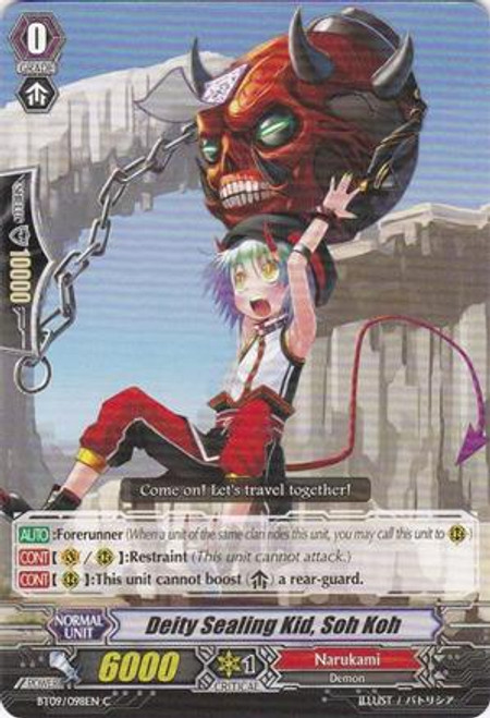 Cardfight Vanguard Clash of the Knights & Dragons Common Divine Sealing Kid, Soh Koh BT09/098