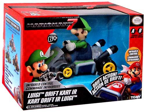 Super Mario Mario Kart 7 Drift Kart IR Luigi R/C Car
