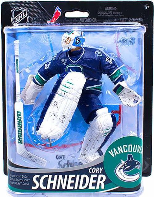 McFarlane Toys NHL Vancouver Canucks Sports Picks Series 33 Cory Schneider Action Figure [Logo Emblem]