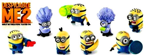 Despicable Me 2 McDonald's 2013 Set of 8 Happy Meal Figures