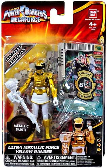 Power Rangers Megaforce Ultra Metallic Force Yellow Ranger Action Figure
