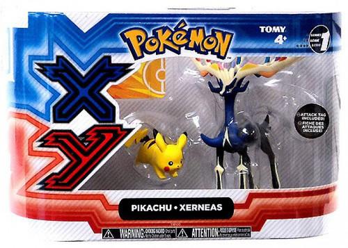 Pokemon XY Basic Pikachu & Xerneas Figure 2-Pack