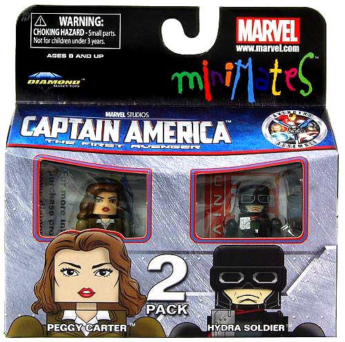 Captain America The First Avenger Minimates Series 40 Peggy Carter & Hydra Soldier Minifigure 2-Pack