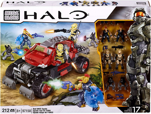 Mega Bloks Halo Red UNSC Spade Exclusive Set #97158