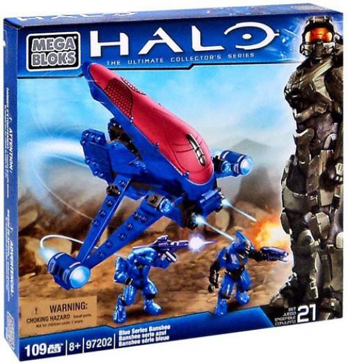 Mega Bloks Halo The Ultimate Collector's Series Blue Series Banshee Set #97202
