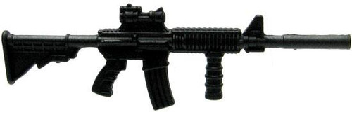 GI Joe Loose Weapons M4 Rifle with Foregrip & Silencer Action Figure Accessory [Black Loose]