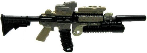 GI Joe Loose Weapons Heavily Customized M4 Action Figure Accessory [Dark Tan & Black Loose]