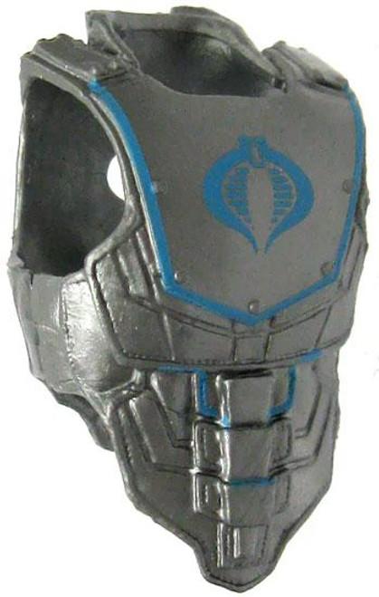GI Joe Loose Cobra Armor Action Figure Accessory [Silver & Blue Loose]