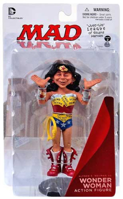 DC MAD Just Us League of Stupid Heroes Alfred E. Neuman as Wonder Woman Action Figure