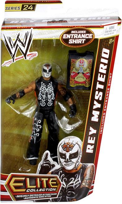 WWE Wrestling Elite Series 24 Rey Mysterio Action Figure [Entrance Shirt]