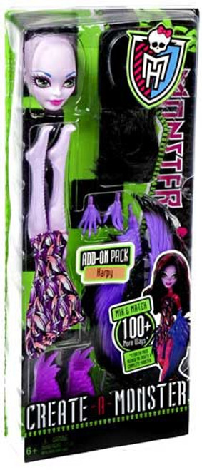 Monster High Create-A-Monster Harpy Add-On Pack 10.5-Inch