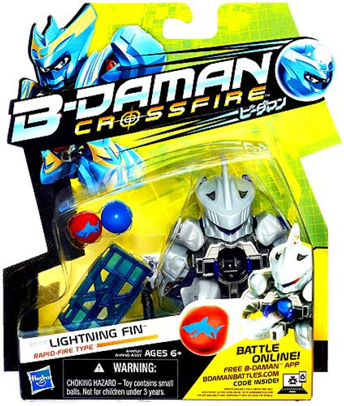 B-Daman Crossfire Lightning Fin Figure BD-02 [Rapid-Fire Type]