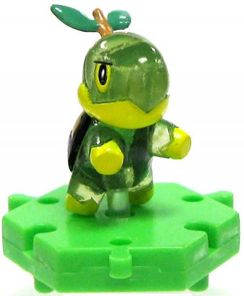 Pokemon Japanese Connecting Figures Crystal Turtwig 1-Inch PVC FIgure
