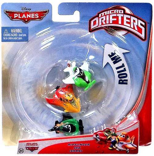 Disney Planes Micro Drifters Ripslinger, Zed & Ishani Vehicle 3-Pack
