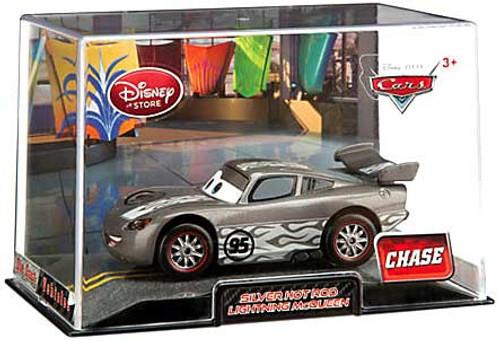 Disney Cars 1:43 Collectors Case Silver Hot Rod Lightning McQueen Exclusive Diecast Car
