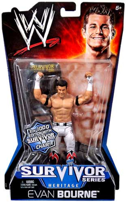 WWE Wrestling Pay Per View Series 11 Survivor Series Heritage Evan Bourne Action Figure [With Chair]