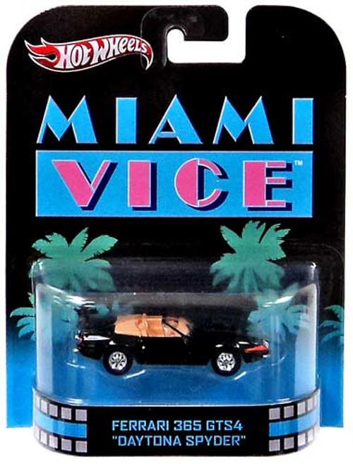 "Miami Vice Hot Wheels Retro Ferrari 365 GTS4 ""Daytona Spyder"" Diecast Vehicle"