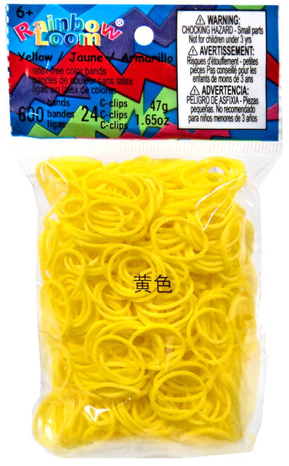 Rainbow Loom Yellow Rubber Bands Refill Pack [600 ct]