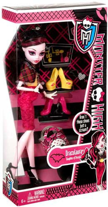 Monster High Shoe Collection Draculaura 10.5-Inch Doll