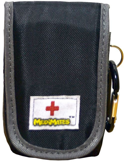 AllerMates Asthma Inhaler Case Medicine Bag [Black & Gray]
