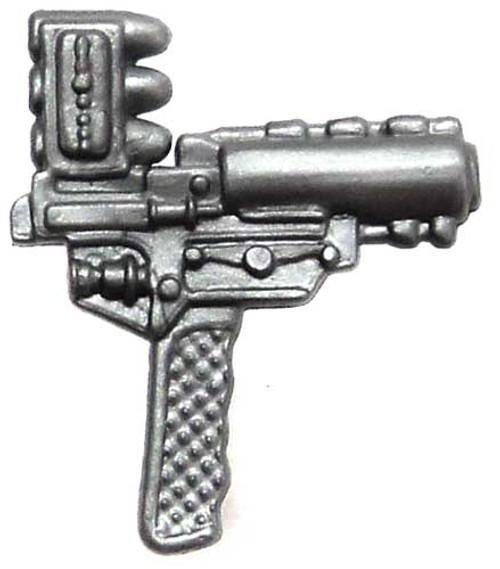 GI Joe Loose Weapons Top-Loading Grenade Pistol Action Figure Accessory [Silver Loose]