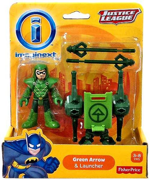 Fisher Price DC Super Friends Justice League Imaginext Green Arrow & Launcher 3-Inch Mini Figure