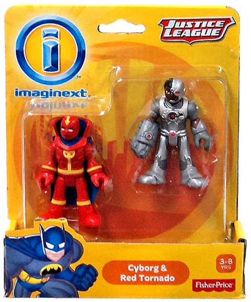 Fisher Price DC Super Friends Justice League Imaginext Cyborg & Red Tornado Exclusive Mini Figures