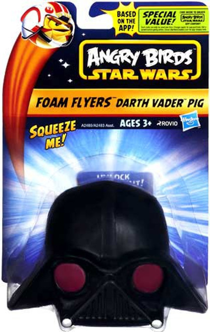 Star Wars Angry Birds Foam Flyers Darth Vader Pig Figure